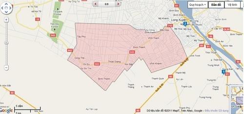 bản đồ huyện Thoại Sơn