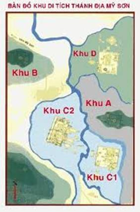 Bản đồ khu di tích thánh địa Mĩ Sơn