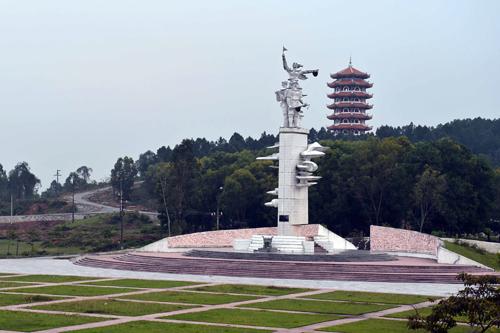 Khu tượng đài Chiến thắng Đồng Lộc. Ảnh: Thanh Hà-TTXVN