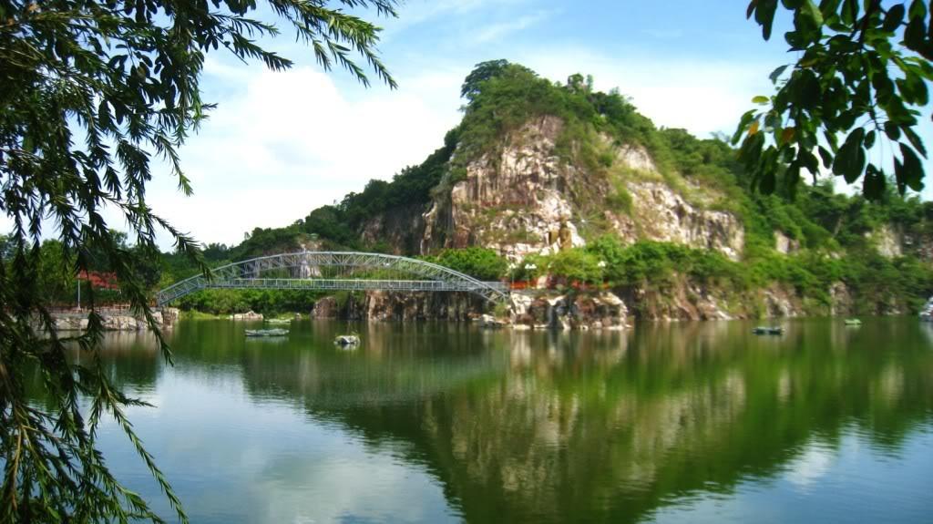 Khung cảnh yên bình của Hồ Ông Thoại