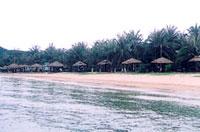 Một góc bãi biển tại khu du lịch