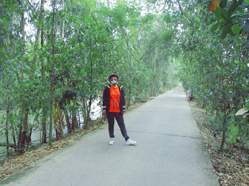 Đường tới khu du lịch sinh thái Gáo Giồng