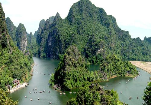 Một góc khu du lịch sinh thái Tràng An