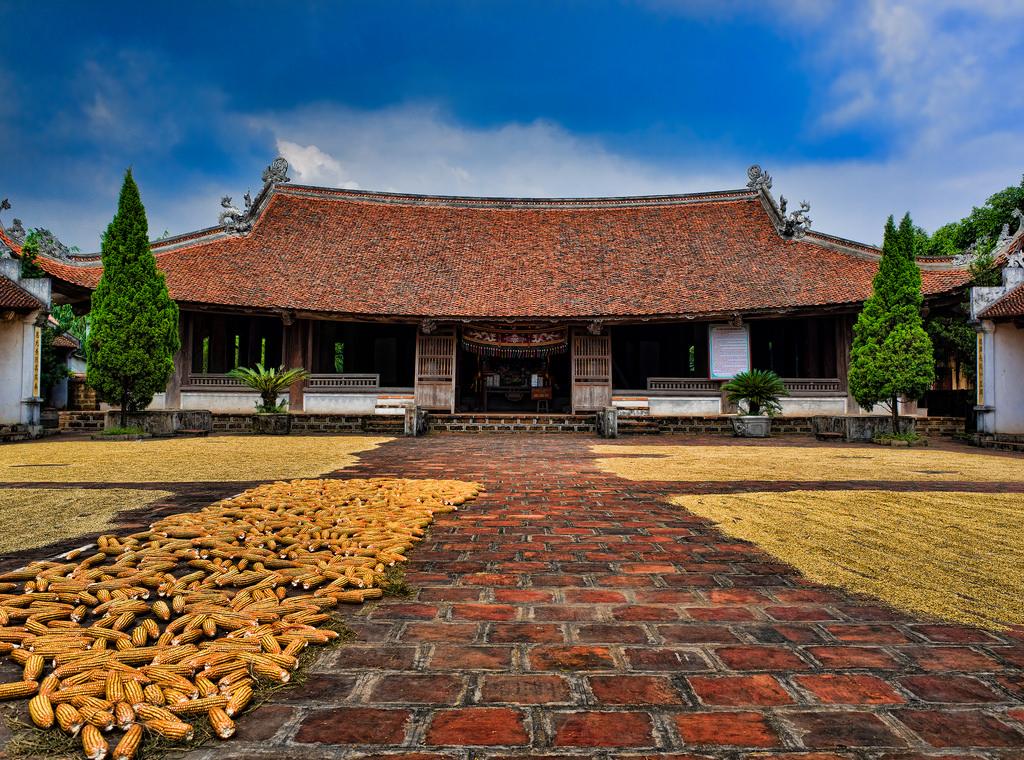 Cuộc sống đời thường ở Làng Cổ Đường Lâm.