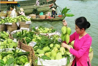 Chợ nổi trái cây