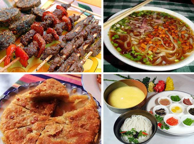 Ẩm thực Vân Nam có ở từng góc phố, bàn ăn ở Lệ Giang.