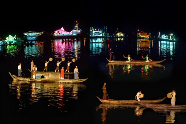 Lễ hội diễn ra với chương trình nghệ thuật sân khấu nước cùng sự tham gia biểu diễn của hơn 200 diễn viên và nhạc công. Ảnh: vietnamtourism.gov.vn
