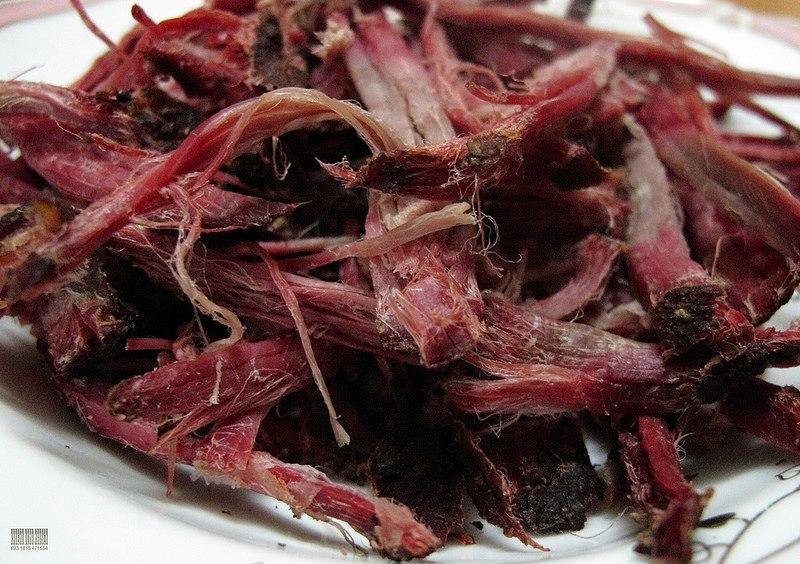 Thịt trâu, thịt lợn gác bếp - Món ngon Mù Căng Chải.