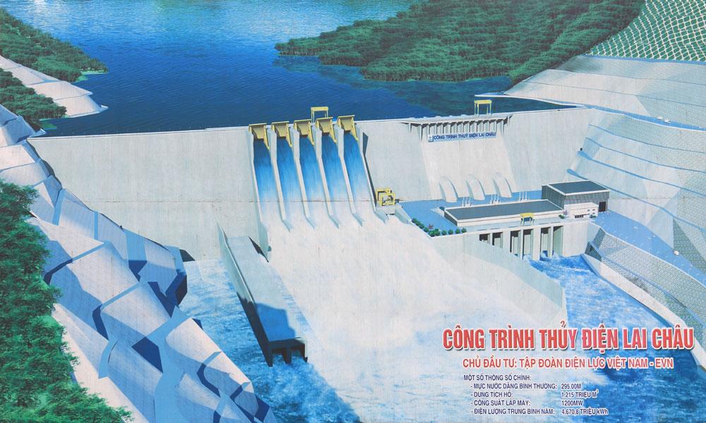 Dự kiến Thủy điện Lai Châu sẽ phát điện tổ máy cuối vào năm 2016