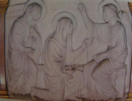 Hình ảnh  được khắc bên trong nhà thờ