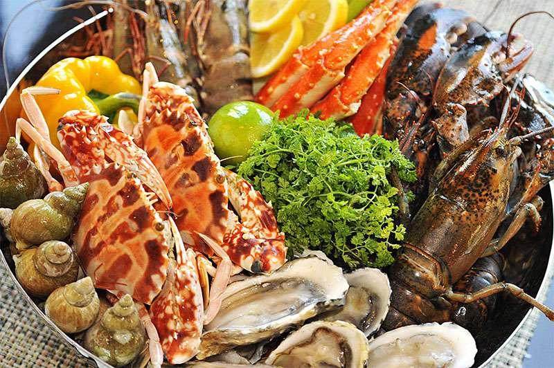 Hải sản tươi sống ở Nha Trang.