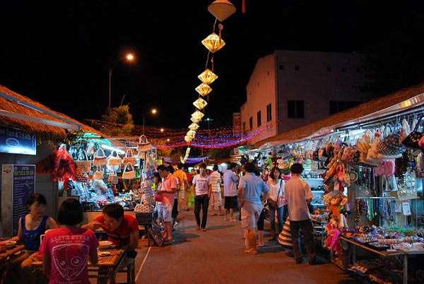 Phố đi bộ và chợ đêm.