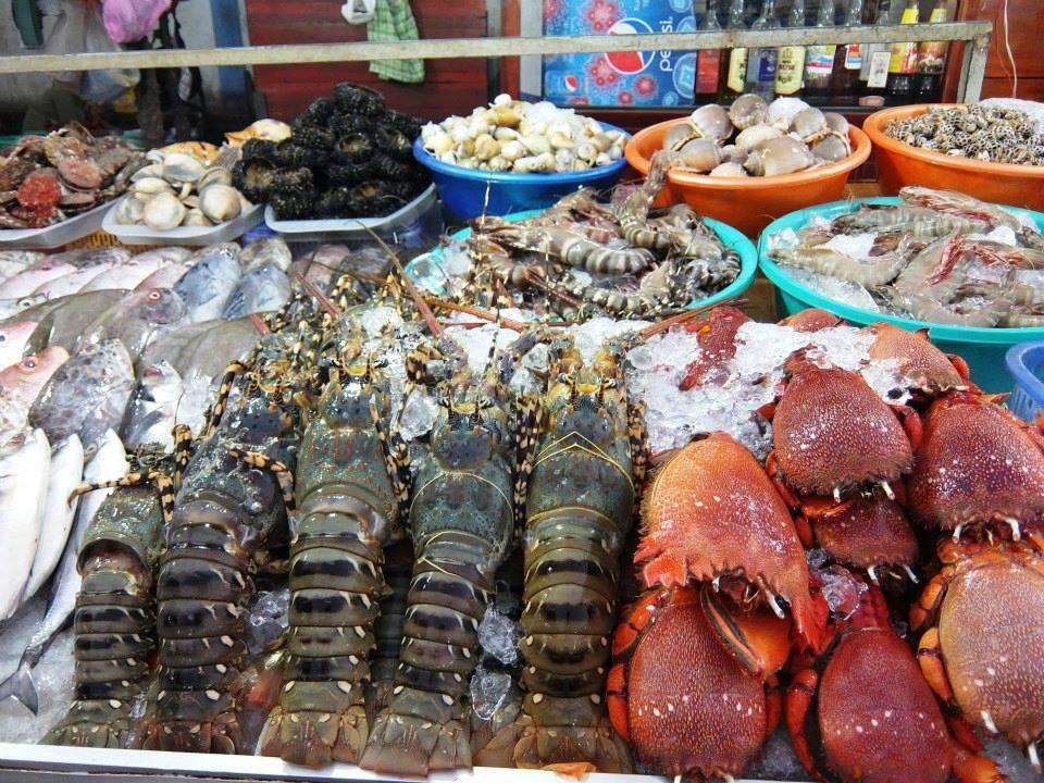Hải sản Ninh Thuận nổi tiếng tươi, ngon.