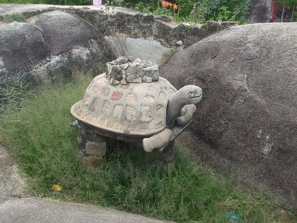 Rùa đá trên đỉnh Thủy Đài Sơn
