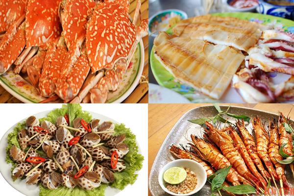 Hải sản tươi sống biển Phan Rang