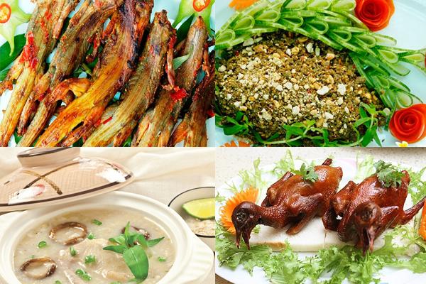 Các món Dông Cát nướng, gỏi Dông cát, Bồ Câu nướng, cháo Bồ Câu ở Phan Rang