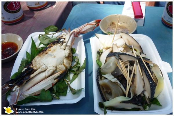 Ghẹ nướng - Món ngon ở Phan Thiết.