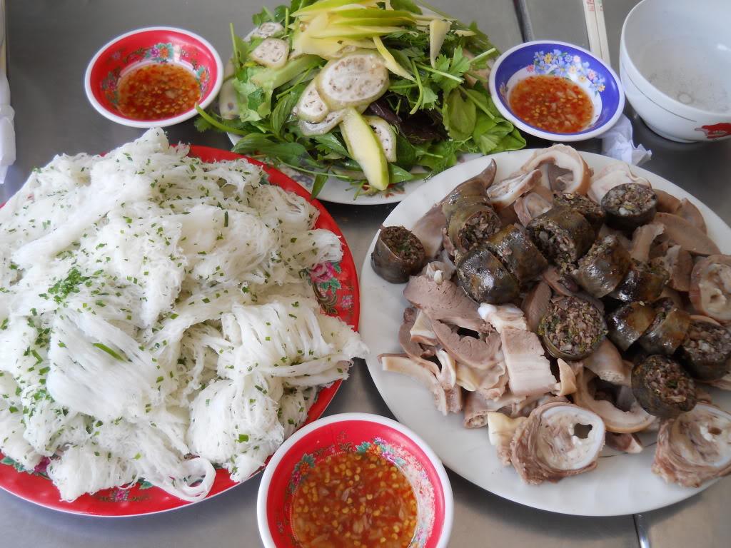 Bánh hỏi lòng heo Phú Long - Món ngon ở Phan Thiết.