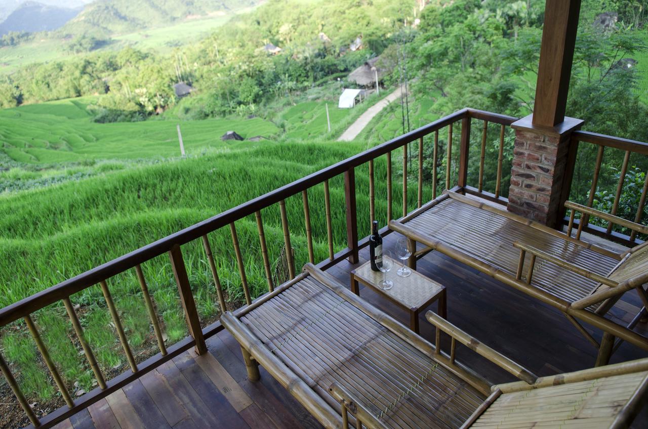 Chỗ nghỉ ở Pù Luông được xây dựng giữa thiên nhiên trong lành.