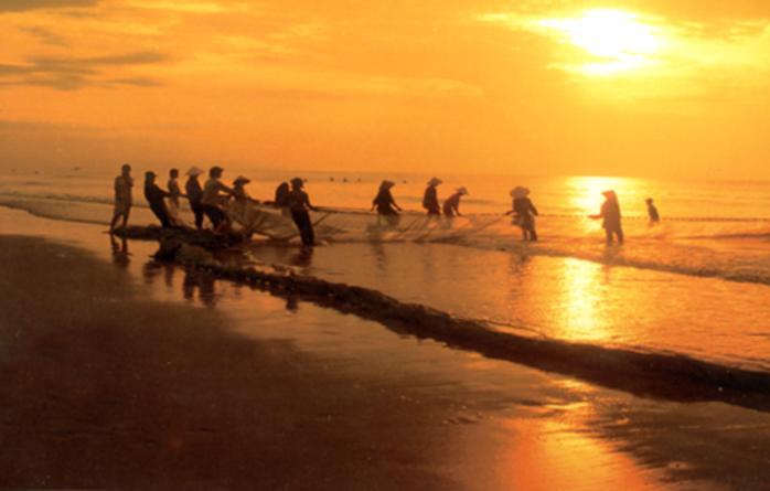 Hoạt động vui chơi hấp dẫn: Kéo lưới cùng dân chài vào sáng sớm