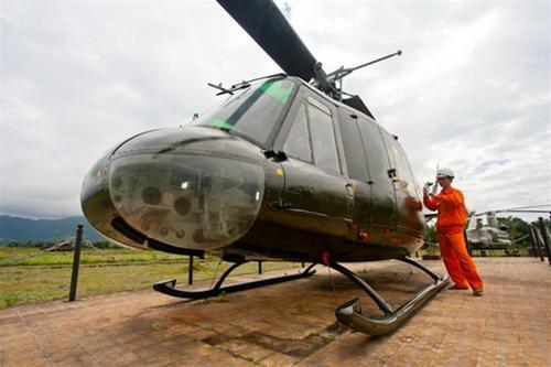 Trực thăng lên thẳng UH-1, loại máy bay cơ động được lính Mỹ sử dụng nhiều nhất trong chiến tranh Việt Nam và chiến trường Khe Sanh - Ảnh: Tiến Thành
