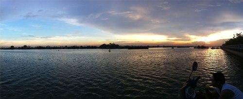 Sông Đồng Nai khi hoàng hôn xuống
