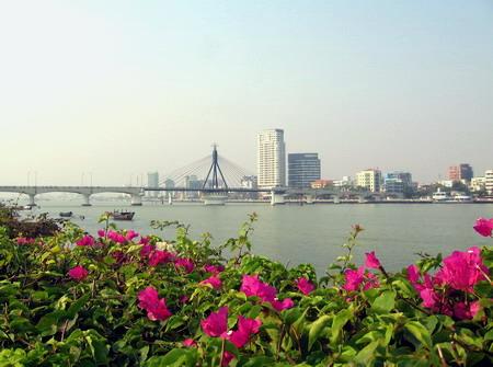 Từ sông hàn nhìn ra thành phố