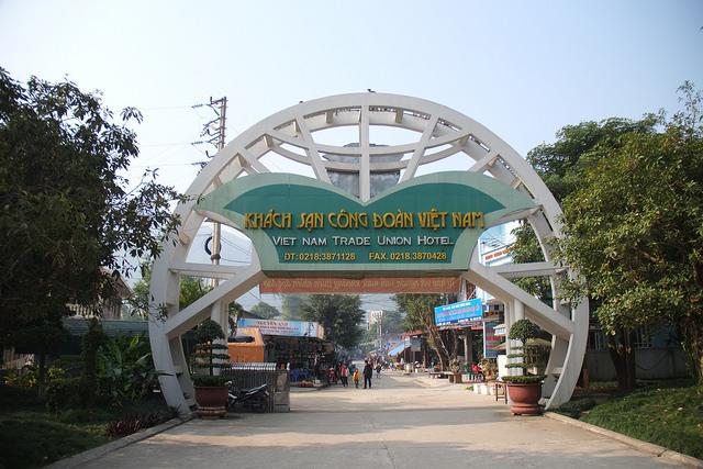 Khách sạn Công Đoàn trong khu du lịch khoáng nóng Kim Bôi.