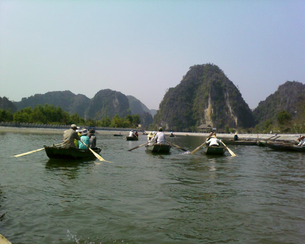 Khu vực bến thuyền Tam Cốc