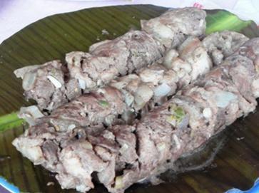 Thịt nướng ông lô ô - Đặc sản Kon Tum