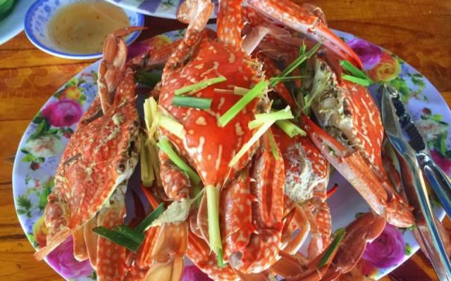 Hải sản tươi ngon ở Quy Nhơn.