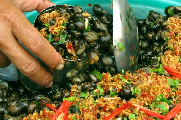 Món ngon ở Tiền Giang: Ốc gạo Tân Phong