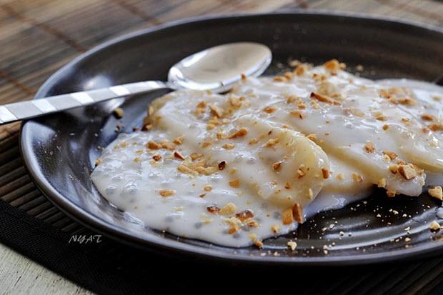 Món ngon ở Tiền Giang: Chuối quết dừa