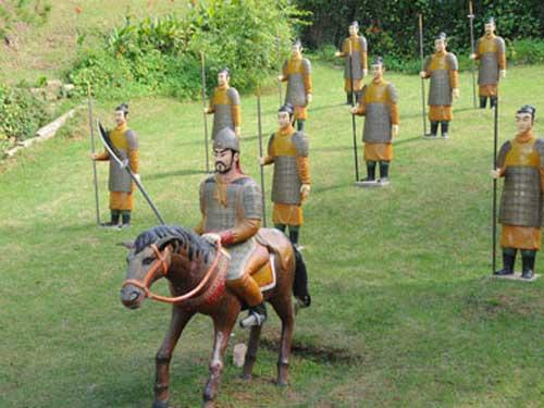 Một góc khu vực bầy quân binh phong kiến nhà Tần của Trung Hoa