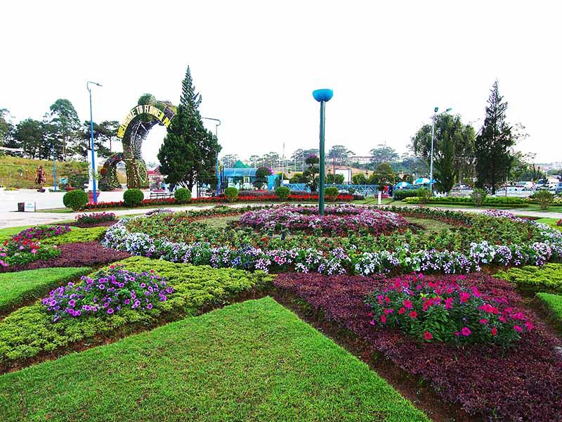 Một góc Vườn hoa Đà Lạt