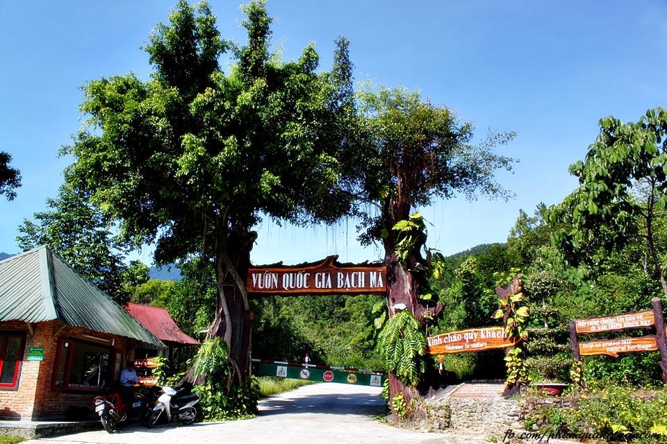 Cổng vườn Quốc Gia Bạch Mã.