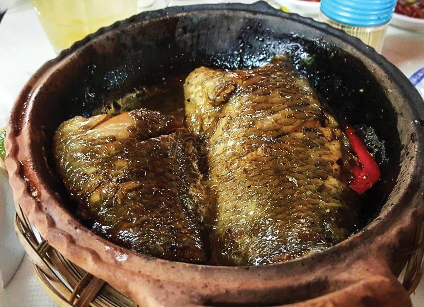 Cá lóc bông nướng trui