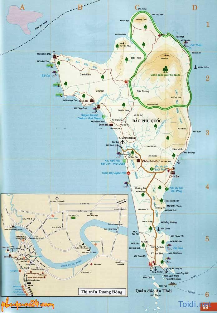 Bản đồ Vườn Quốc gia Phú Quốc