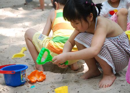 Thỏa thích nghịch cát