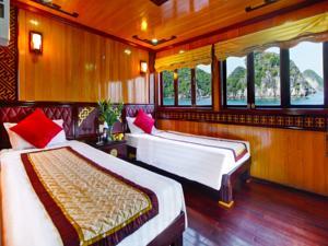 Phòng Deluxe dùng chung có 2 Giường đơn - 2 Ngày 1 Đêm