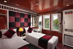 Cabin Deluxe Giường Đôi/2 Giường Đơn - 3 Ngày 2 Đêm + Dịch vụ đưa đón 2 Chiều Miễn phí Hà Nội - Hạ Long