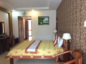 Phòng Deluxe Giường Đôi/2 Giường Đơn có Ban công và Nhìn ra Biển