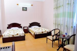 Phòng Tiêu chuẩn có 2 giường đơn và nhìn ra cảnh thành phố