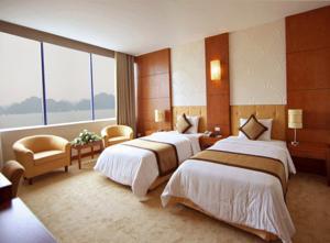 Phòng đôi 2 giường đơn sang trọng nhìn ra vịnh