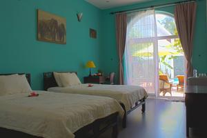 Phòng 2 Giường Đơn Trước Hồ bơi
