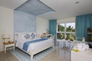 Phòng Azul có Giường Đôi/ 2 Giường Đơn Nhìn ra Khu vườn