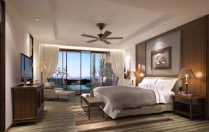 Phòng Deluxe Giường Đôi/2 Giường Đơn - Nhìn ra Bãi biển (Miễn phí Đưa đón + 3 bữa ăn + 2 vé vào cửa Công viên Giải trí Vinpearl)