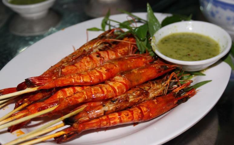 Tôm sú nướng - Hải sản Nha Trang