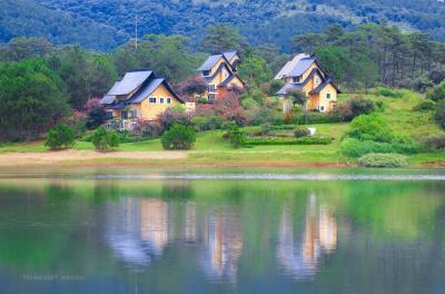 Ngồi làng Bình An đẹp như cổ tích ở Đà Lạt