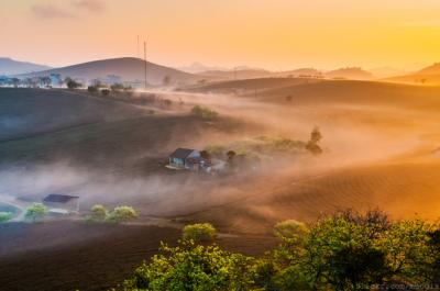 Cao Nguyên Mộc Châu đẹp mê hồn trong sáng sớm